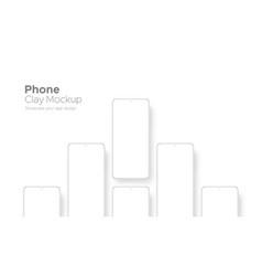 Clay smartphones with blank screens vector
