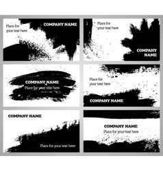 Collection horizontal business grunge cards vector image vector image