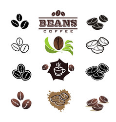 Collection of coffee design elements vector