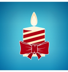 Colorful Christmas Candle on a Blue Background vector