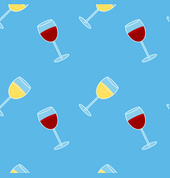 colorful drawing alcohol drink seamless pattern vector image