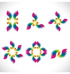 Colorful lead design icon vector