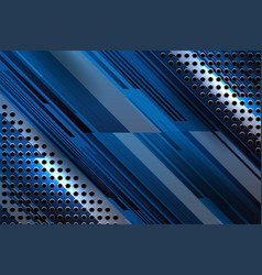Dot and stripe metal background vector