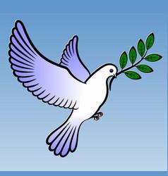 dove symbol peace vector image