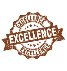 Excellence stamp sign seal vector