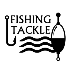 Fishing tackle symbol vector