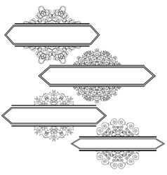 Flourshes Frame Set vector image