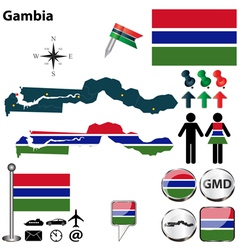 Gambia map vector image