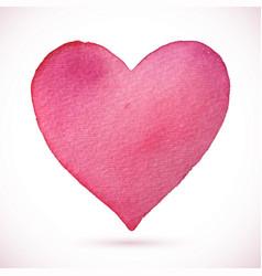 heart beautiful pink watercolor vector image