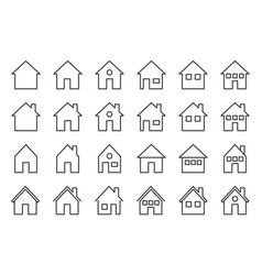 house outline icon pixel perfect vector image