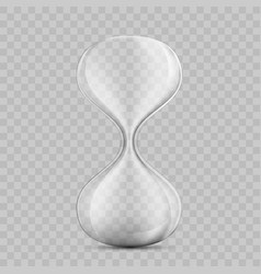 icon empty hourglass template sandglass vector image