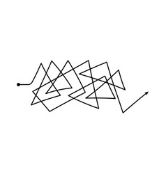 Insane line symbol confused process doodle vector