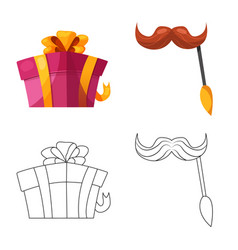 Isolated object of party and birthday icon vector