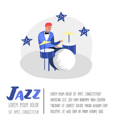 jazz concert poster banner music character vector image
