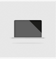 laptop with a dark display on a gray background vector image