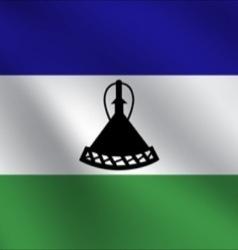 Lesotho flag vector