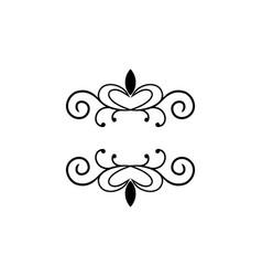 line art decoration geometric frames floral logo vector image