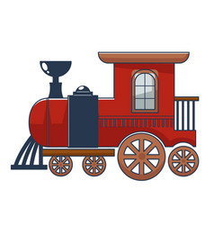 Locomotive wooden or metal toy for kids vector
