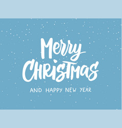 Merry christmas text holiday greetings quote vector