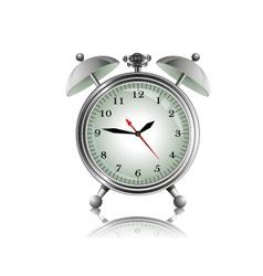 Metal alarm clock vector