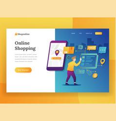 modern flat design concept of online shopping for vector image
