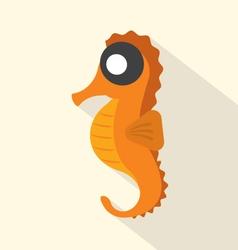 Modern Flat Design Seahorse Icon vector