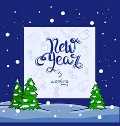 new year backgrond vector image