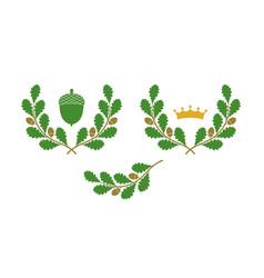 oak wreath vector image