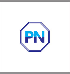 p n joint letter logo abstract design vector image