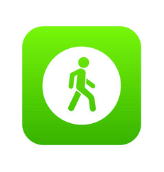 pedestrians only road sign icon digital green vector image