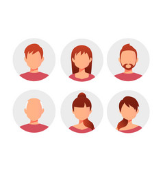 people cartoon avatars collection vector image