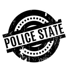 Police state rubber stamp vector