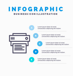 Printer print printing education blue vector