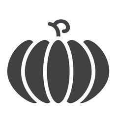 pumpkin solid icon fruit and vegetable vector image