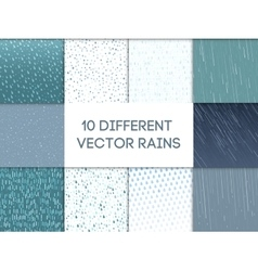 Rain drops pattern set vector image
