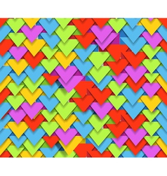 Seamless background of colorful abstract triangle vector
