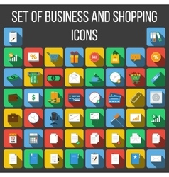 Set of Colored Icons in a Flat Style vector image