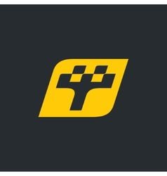 sign the letter t taxi vector image