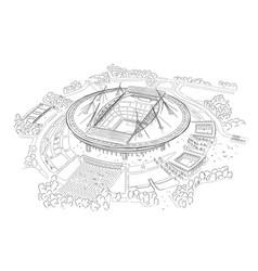 Sketch of the new stadium on krestovsky island vector