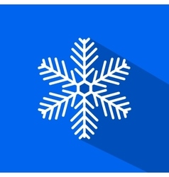 Snowflake icon with long shadow vector image