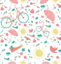 Spring pattern vector