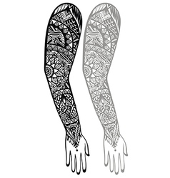 Style tattoo design vector
