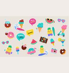 sweet summer - cute ice cream watermelon vector image
