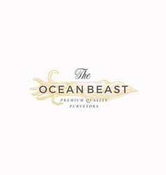 The ocean beast premium quality natural seafood vector