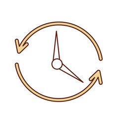 Time clock with arrows icon vector