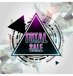 Total sale abstract geometric background vector