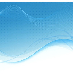 Transparent blue abstract background - waves vector image