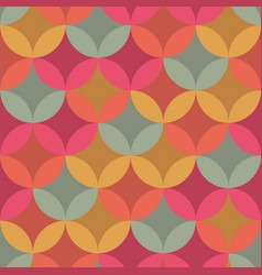 Vintage vibes gold and pink circles pattern vector