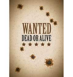 Wanted dead or alive vector