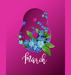 women day holiday or springtime vector image